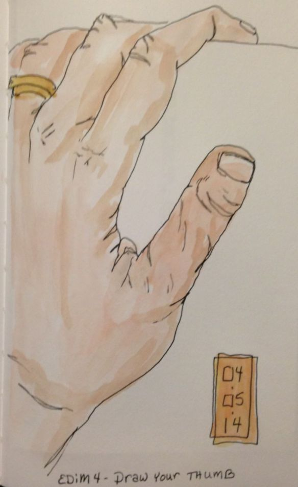 Draw your thumb