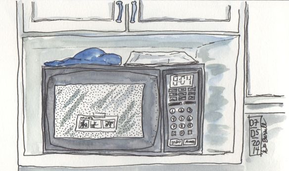 Draw a microwave oven.