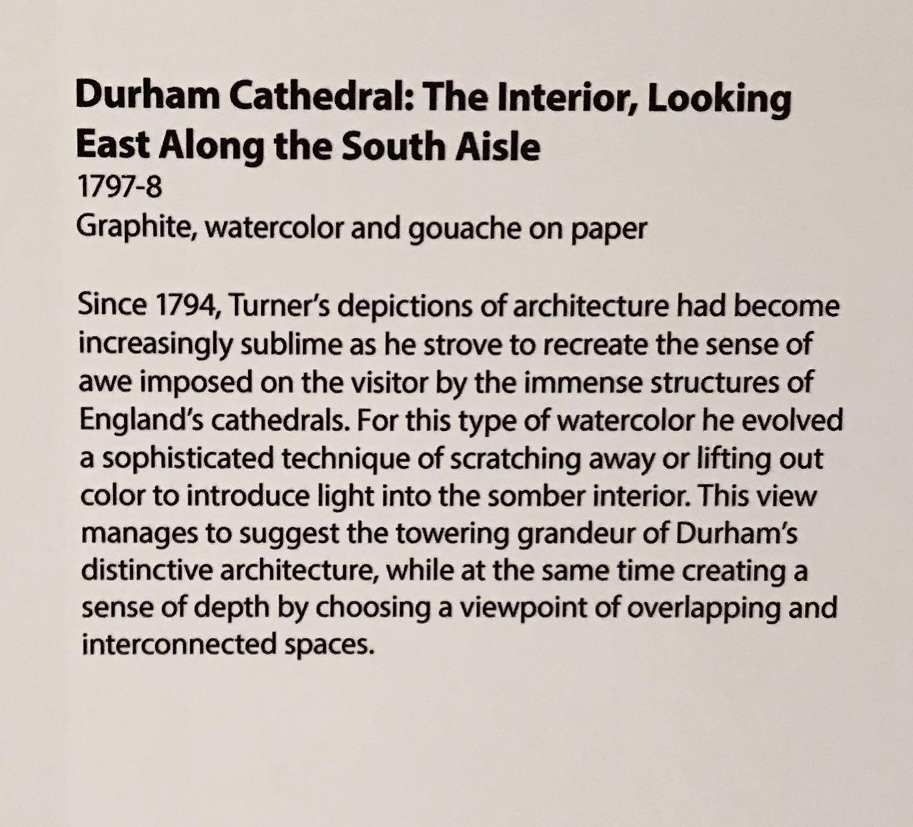 Turner08b_Blurb:DurhamCathedralTheInteriorLookingEastAlongTheSouthAisle1797-8