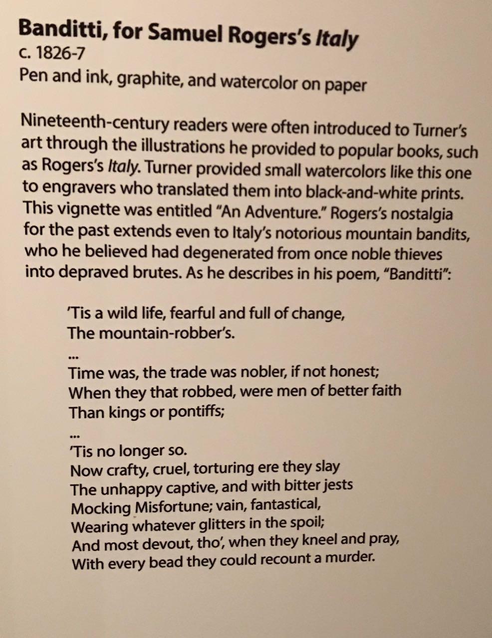 Turner13b_Blurb:Banditti,ForSamuelRogers'sItaly1826-7